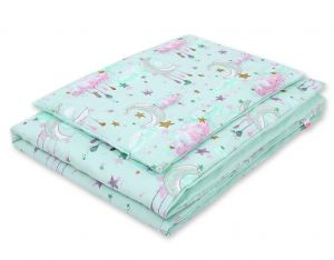 Bedding set 2-pcs- moons mint