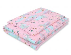 Bedding set 2-pcs- moons pink