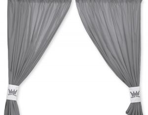 Curtains for baby room- Little Prince/Princess anthracite